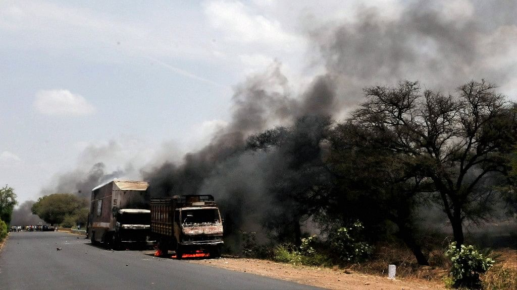 Farmers' agitation in Madhya Pradesh turned violent in Mandsaur district on Wednesday during which six peasants were killed. (Photo: PTI)