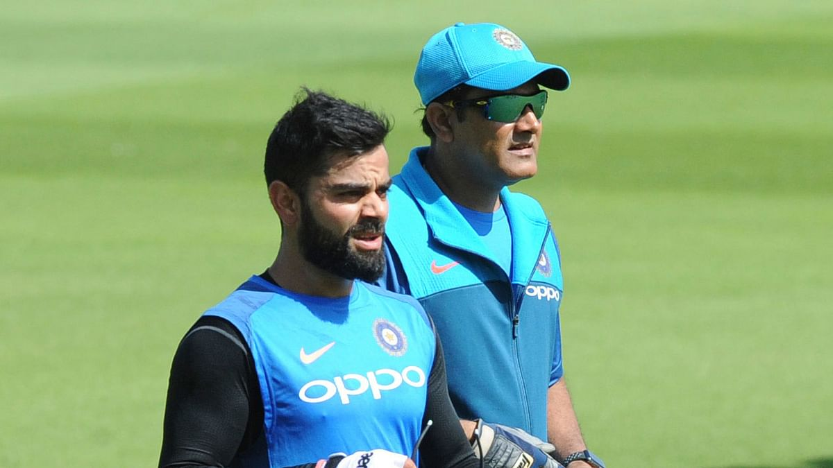 File photo of Virat Kohli (L) and Anil Kumble (R).