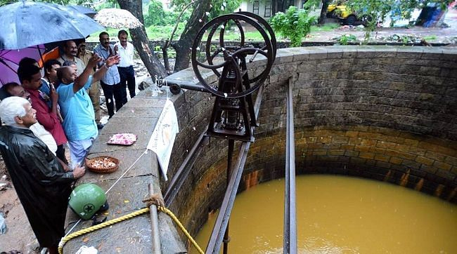 """Not every part of the well's quaint history could be preserved, however, as the hand-pump that had been imported from England in 1902 was no longer in a state to be repaired. (Photo Courtesy: <a href=""""http://www.thenewsminute.com/article/forgotten-decades-115-yr-old-well-saving-day-drought-hit-thrissur-rail-station-63228"""">The News Minute</a>)"""