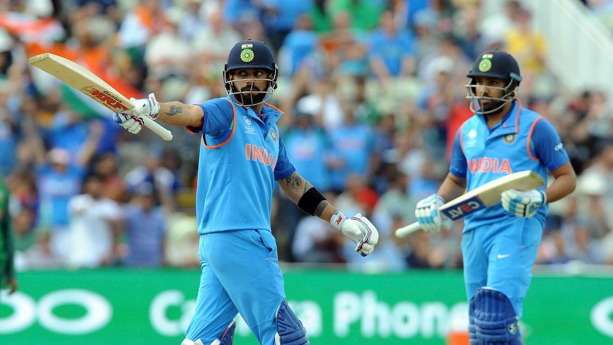 Rohit Sharma and captain Virat Kohli stitched up an unbeaten 178-run partnership. (Photo: AP)
