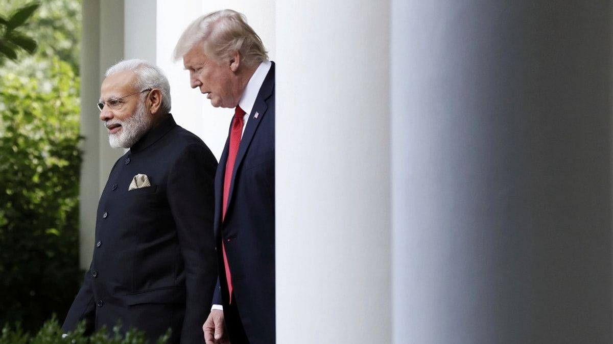 File photo of Prime Minster Narendra Modi and US President Donald Trump at the White House.