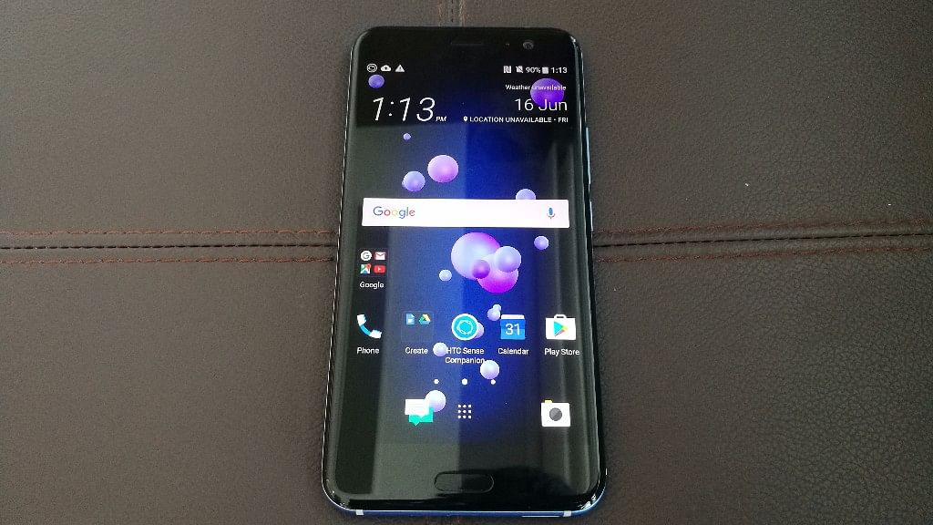 HTC U11 launched in India for Rs. 51,990. (Photo: <b>The Quint</b>)