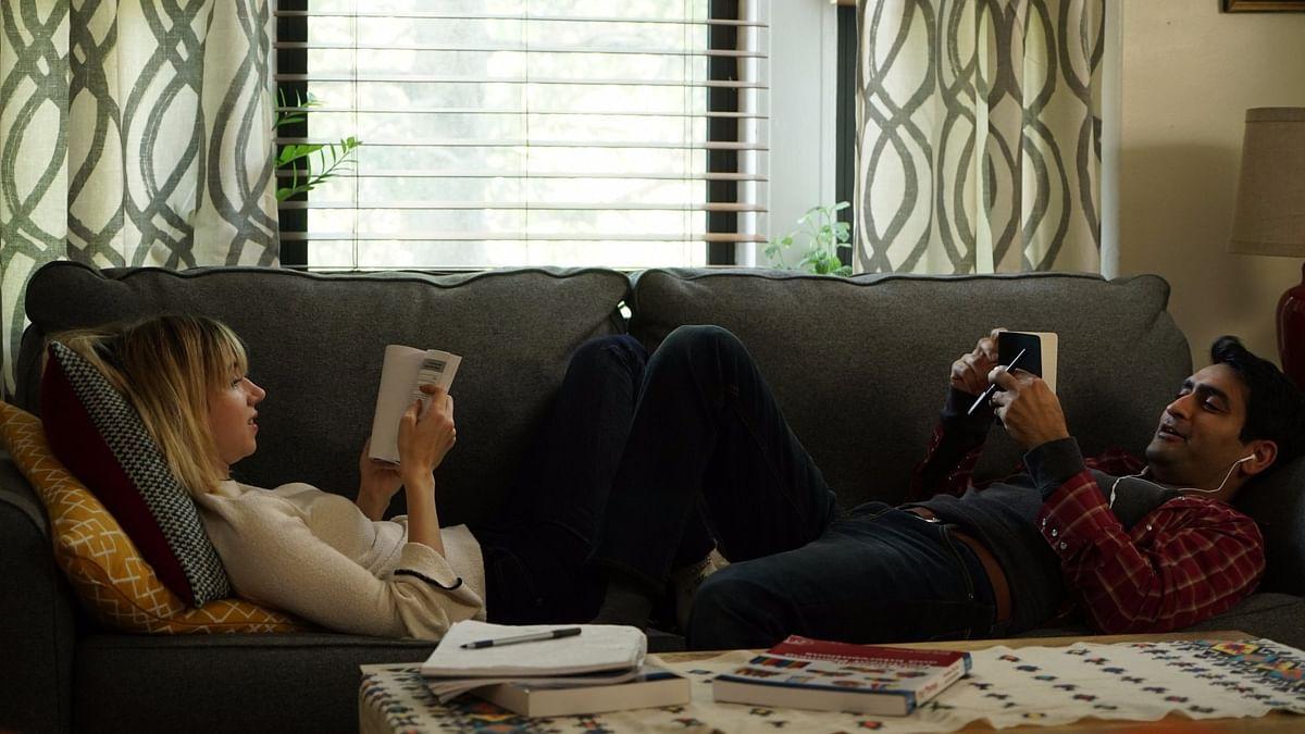 Zoe Kazan and Kumail Nanjiani in <i>The Big Sick.</i>