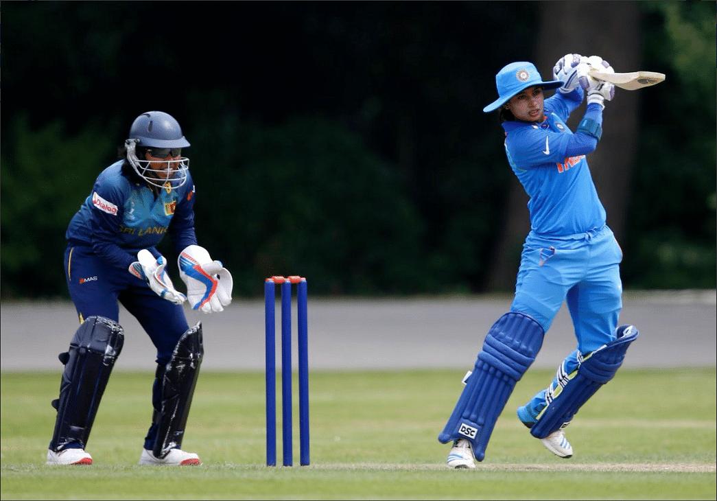 Mithali batting against Sri Lanka.