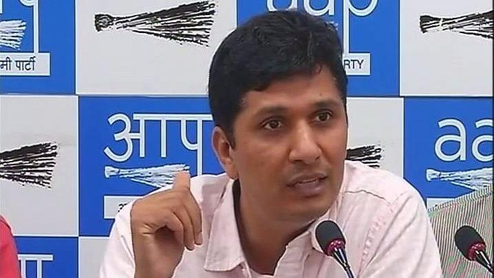 AAP MLA Saurabh Bharadwaj announced the party's decision to hold the hackathon on the same day as EC. (Photo: ANI)