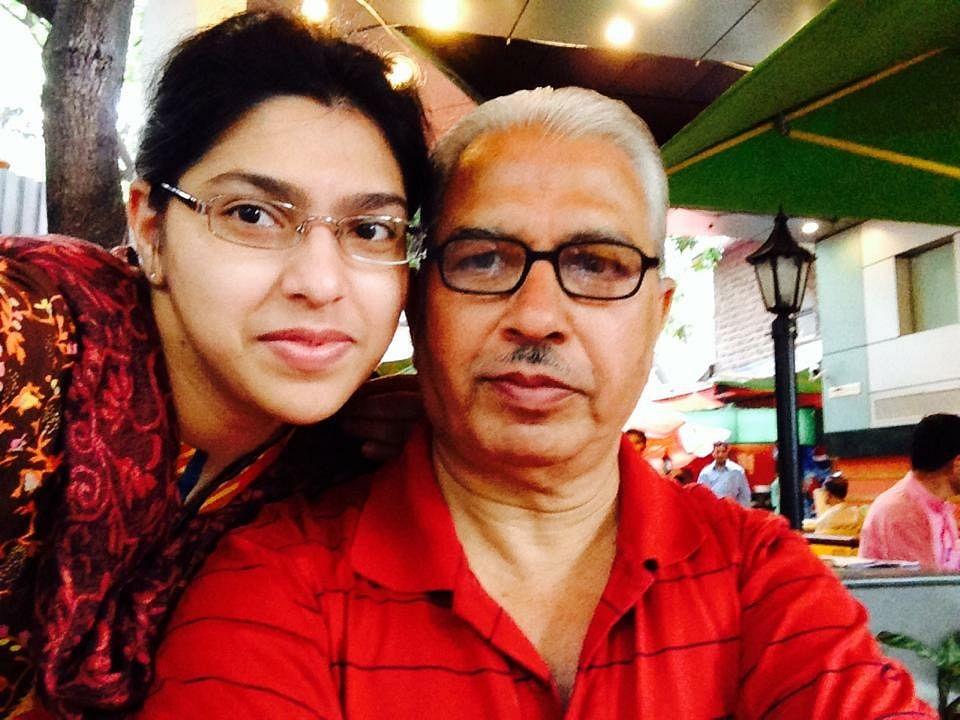 Shraddha Pethe with her dad. (Photo Courtesy: Shraddha Pethe)