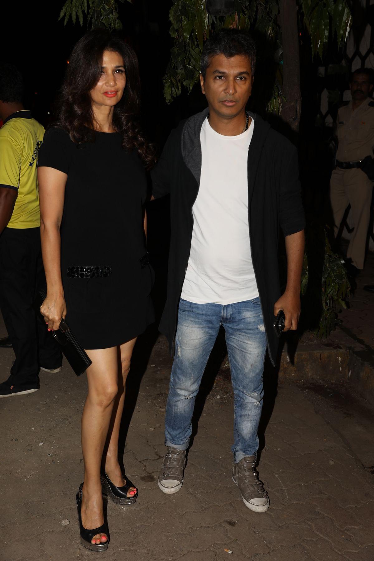 Model Rhea Pillai was seen with designer Vikram Phadnis. (Photo: Yogen Shah)