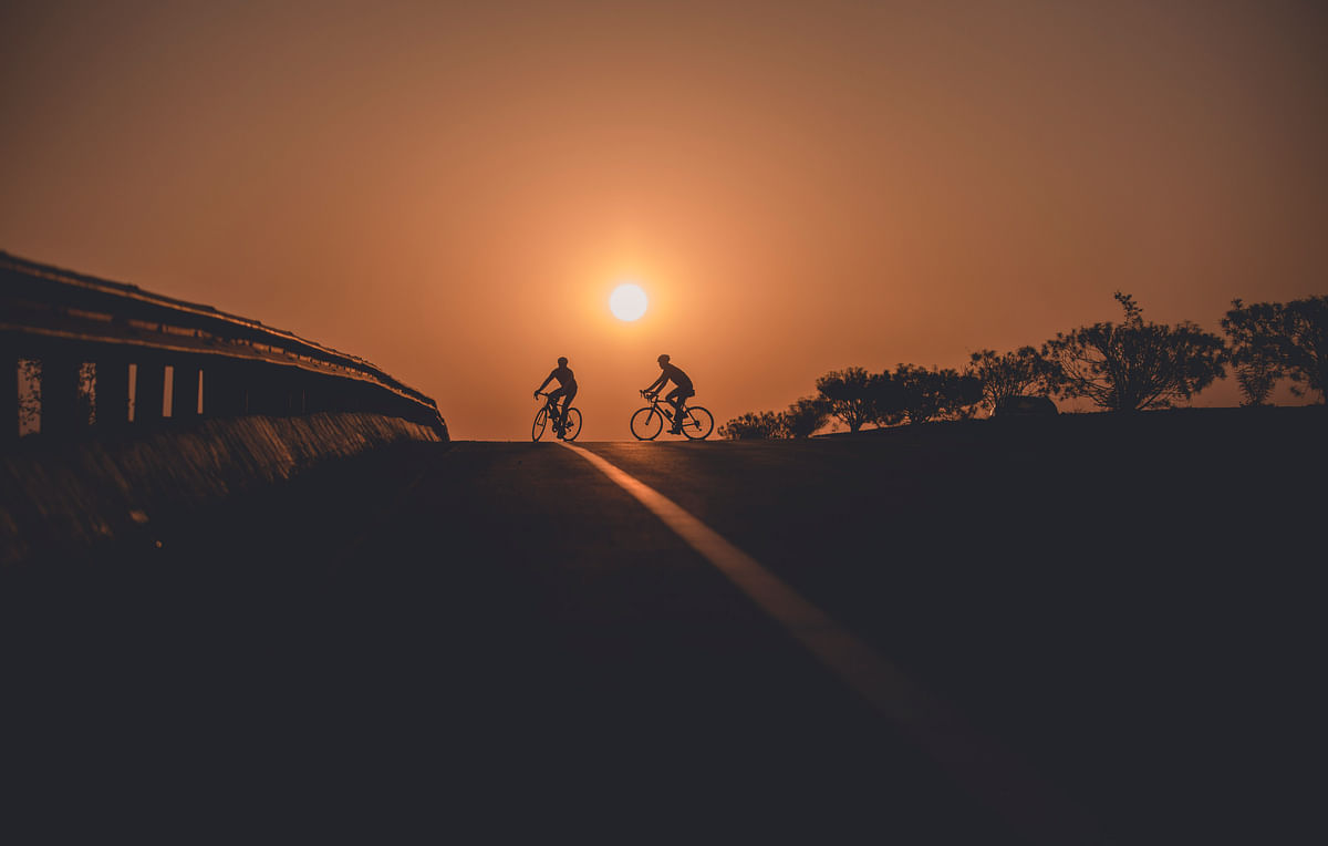 Riding through Orissa sunsets. (Photo courtesy: Aanchal Dhara Photography)