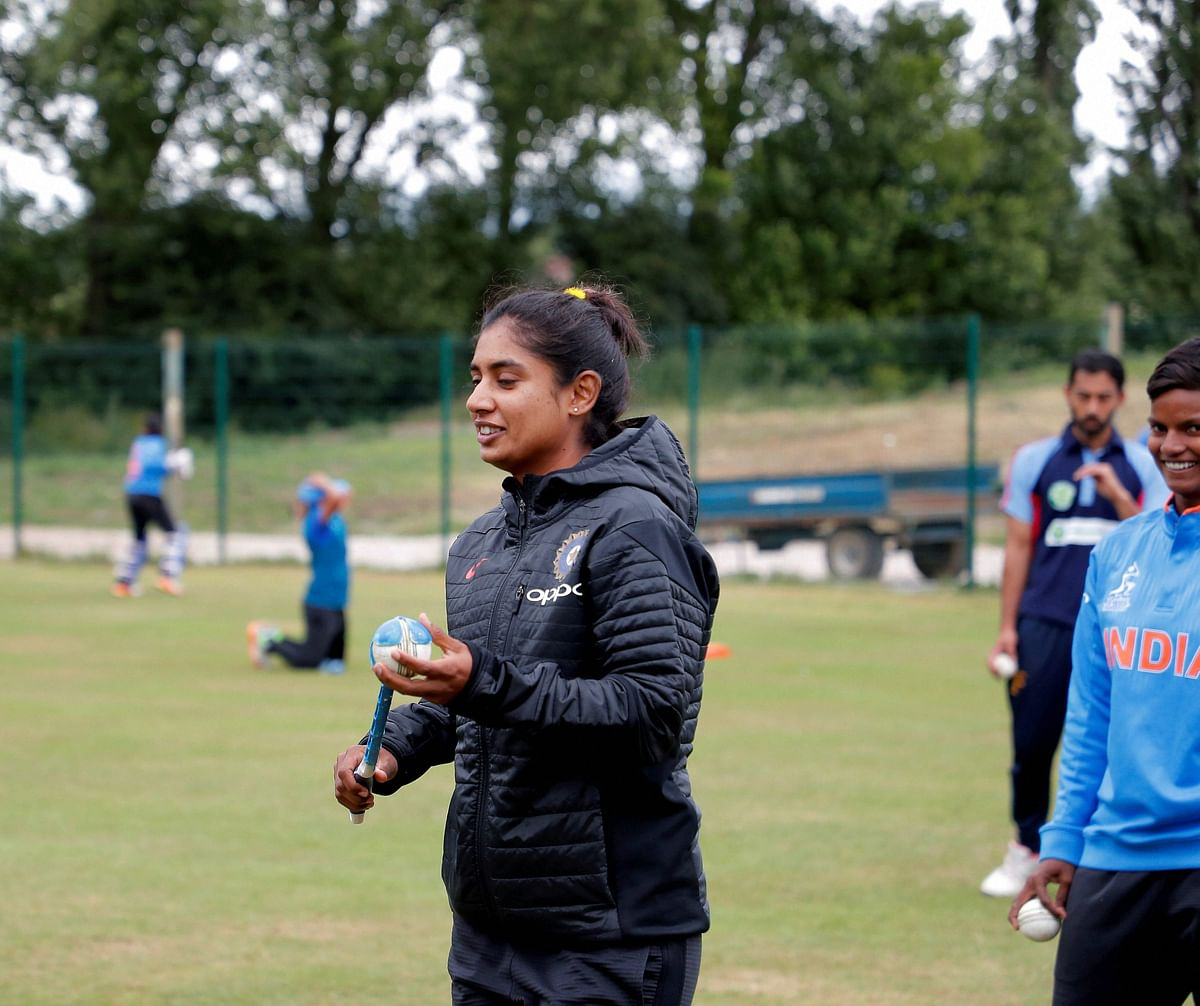 India's Mithali Raj during a practice session in London on Friday ahead of the Women's World Cup Cricket. (Photo: PTI)