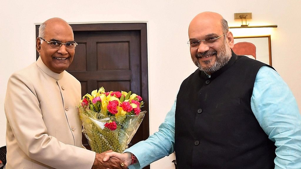 BJP's presidential candidate Ram Nath Kovind with BJP national chief Amit Shah. (Photo: PTI)