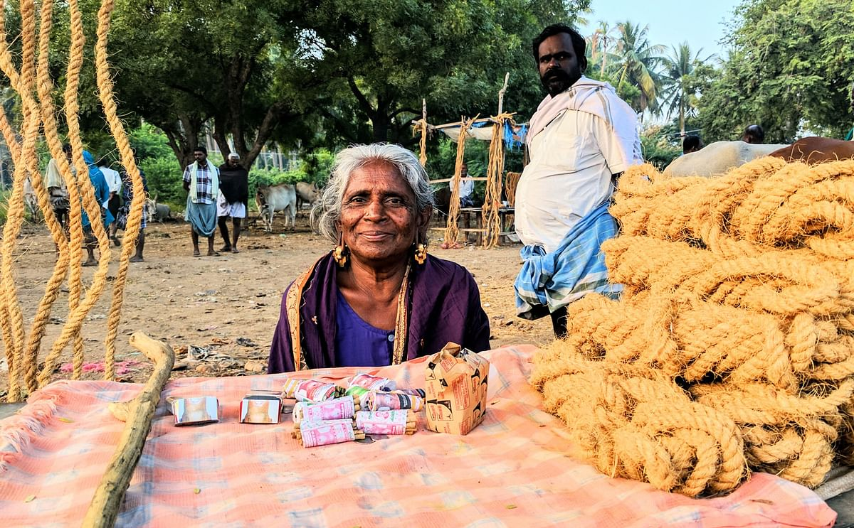 'Azhagi' (beauty) has been a part of the market since she was a child. (Photo: Vikram Venkateswaran/<b>The Quint</b>)