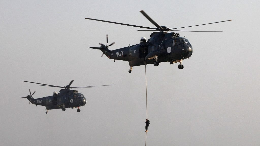 The Indian Navy has been looking for a replacement for its ageing Sea King helicopters for many years now. (Photo: Reuters)