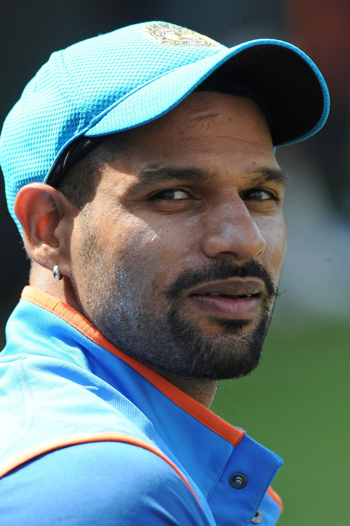 Shikhar Dhawan attends a practice session in the nets ahead of their ICC Champions Trophy Group B match against Pakistan. (Photo: AP)