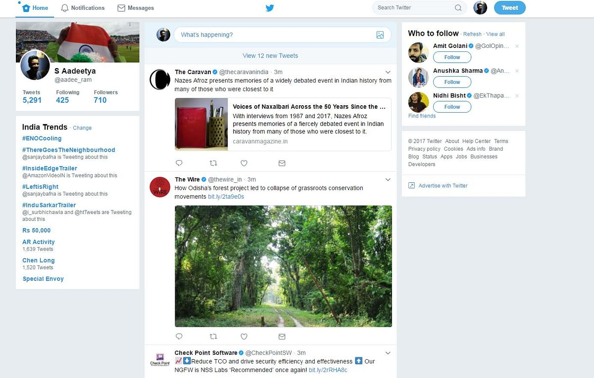 This is how the Twitter desktop version looks. (Photo Courtesy: Twitter screen grab)