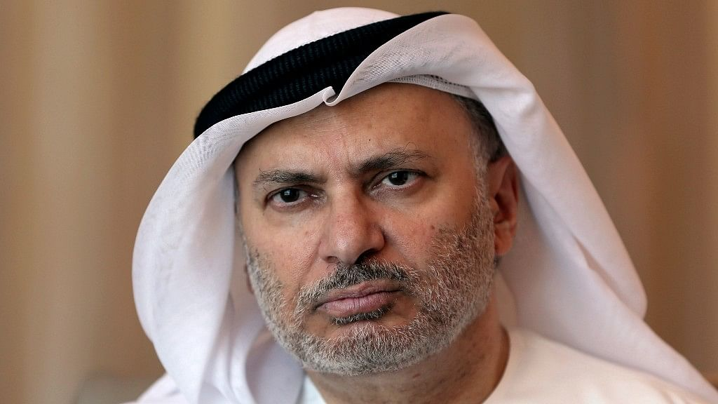 Anwar Gargash, UAE Minister of State for Foreign Affairs talks to AP about relations with Qatar in Dubai on Wednesday. (Photo: AP)