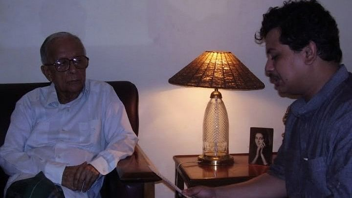 "File photo of CPI(M)'s Rajya Sabha MP, Ritabrata Banerjee along with Jyoti Basu, former chief minister of West Bengal. (Photo Courtesy: Facebook/ <a href=""https://www.facebook.com/photo.php?fbid=113206498727200&amp;set=a.113206388727211.6226.100001135521535&amp;type=3&amp;theater"">Ritabrata Banerjee</a>)"