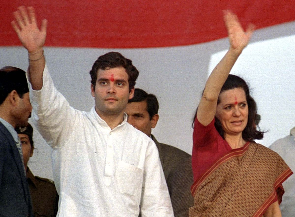 Rahul Gandhi with his mother Sonia Gandhi. (Photo: Reuters)