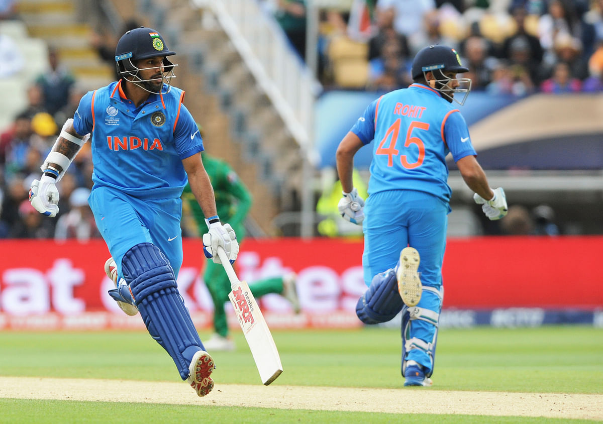 Shikhar Dhawan and Rohit Sharma combined to provide a solid start. (Photo: AP)