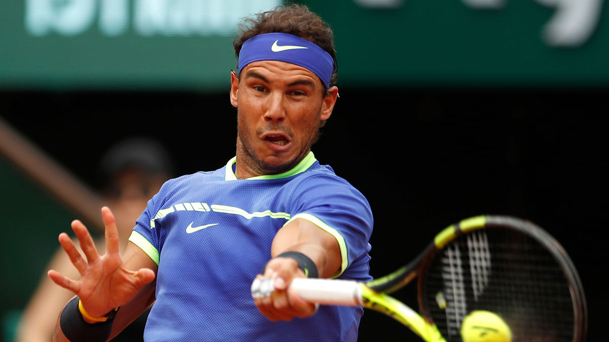 Rafael Nadal in action during the French Open. (Photo: AP)