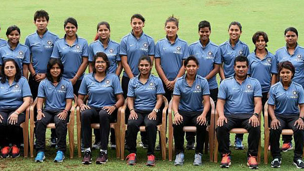 The Indian women's cricket team pose for a picture ahead of the 2017 World Cup.