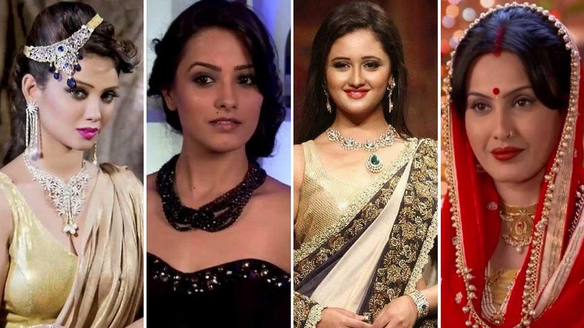 (From left) Adaa Khan, Anita Hassanandani, Rashami Desai, Kamya Punjabi - Hindi television's best loved 'vamps'. (Photo: Altered by <b>The Quint</b>)