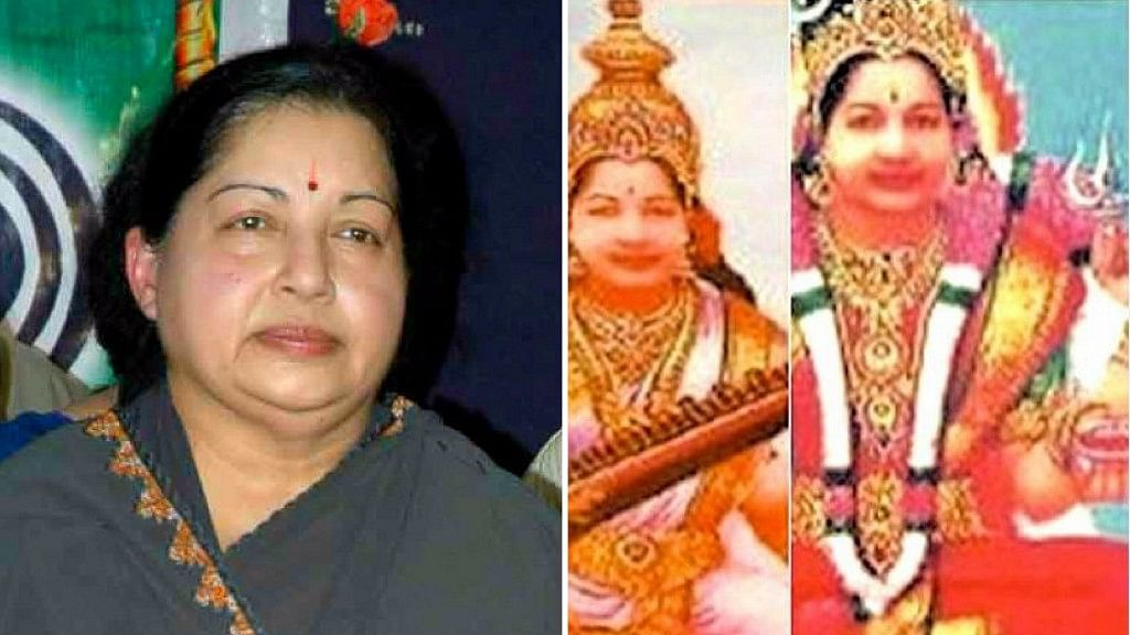MLA Mariappan Kennedy has called late TN Chief Minister Jayalalithaa the 11th avatar of Vishnu. (Photo: Altered by <b>The Quint</b>)
