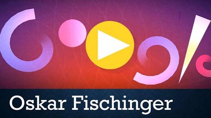 Google celebrates Oskar Fischinger's 117th birthday with a doodle. (Photo Courtesy: Youtube/Google Doodle)