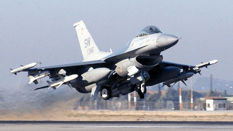 "An F-16 C/J Fighting Falcon. Image used for representation. (Photo Courtesy: <a href=""https://commons.wikimedia.org/wiki/File:F-16_CJ_Fighting_Falcon.jpg"">Wikimedia Commons</a>)"