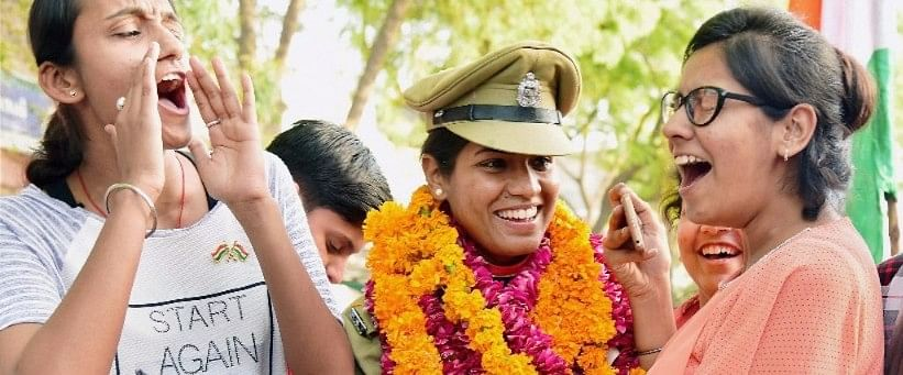 Tanushree Pareek, the first woman combat officer in the BSF. (Photo: PTI)
