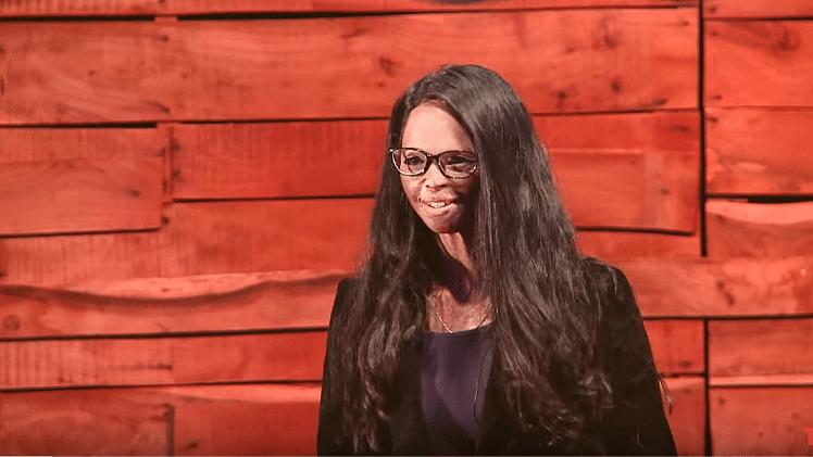 "Acid attack survivor, Lakshmi Agarwal. (Photo Courtesy: YouTube Screenshot/<a href=""https://www.youtube.com/watch?v=7Fq0YvfluN4"">@TEDx Talks</a>)"