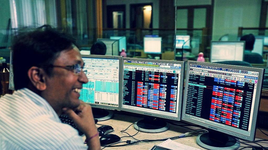 Sensex Closes at Record High, Nifty Ends Below 11,950