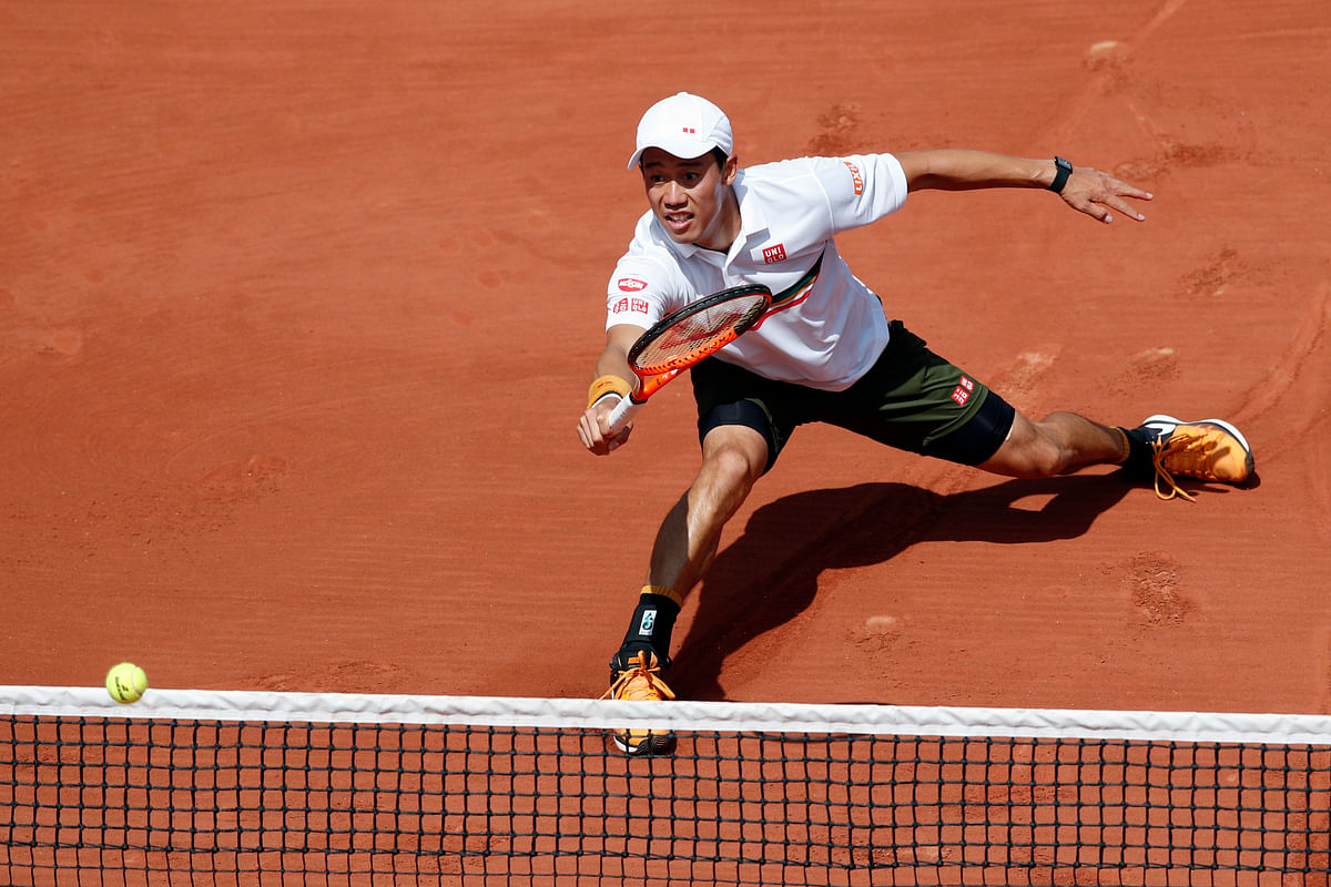 Japan's Kei Nishikori (in picture) takes on Andy Murray. (Photo: AP)