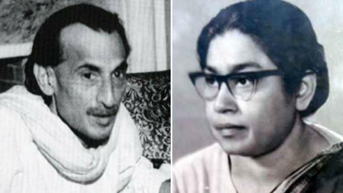 Acharya Kripalani and Sucheta Kripalani.