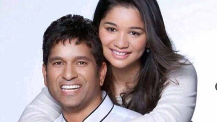 "Sachin Tendulkar with his daughter Sara Tendulkar. (Photo Courtesy: <a href=""https://www.facebook.com/pg/SachinTendulkar/photos/?ref=page_internal"">Facebook/Sachin Tendulkar</a>)"