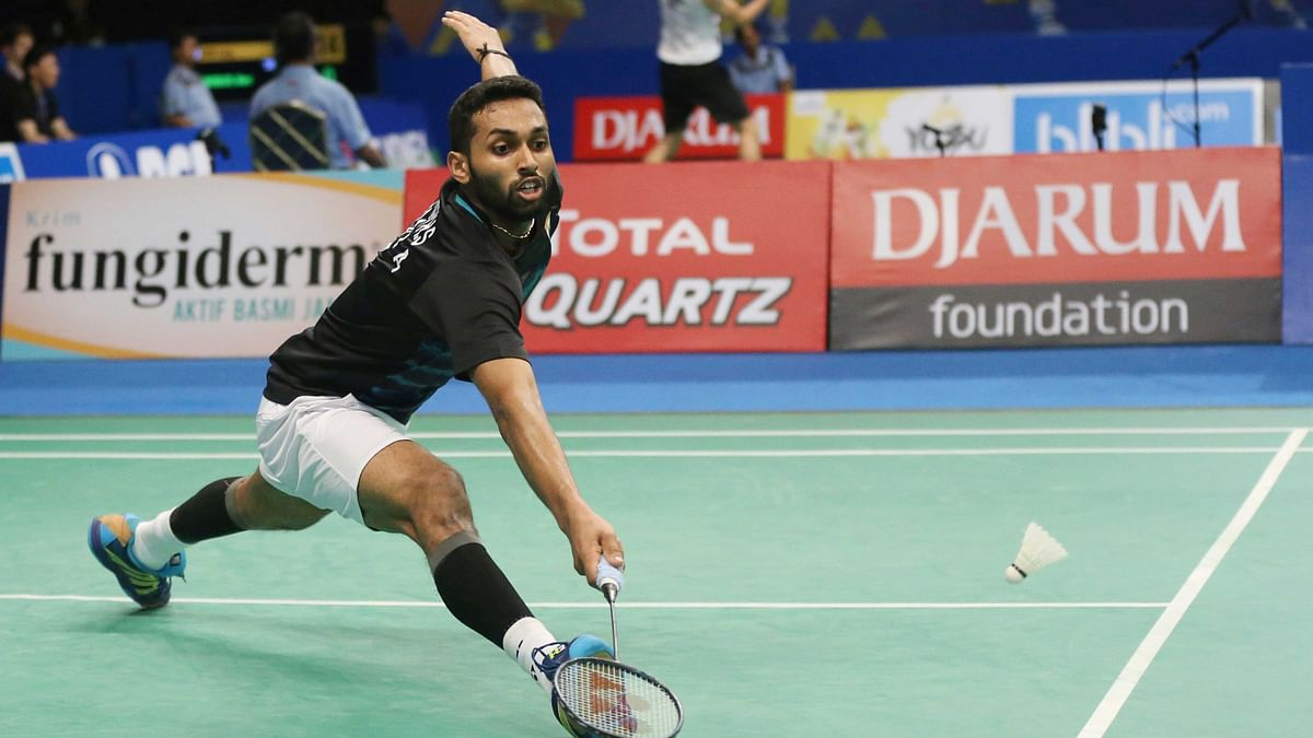 India's  H.S. Prannoy in action during the Indonesia Open. (Photo: AP)