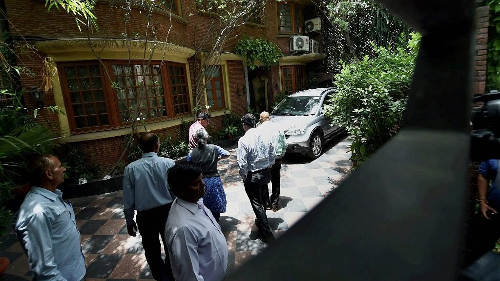 The residence of founder and executive chairman of NDTV, Prannoy Roy, in New Delhi, where the CBI conducted raids on Monday. (Photo: PTI)