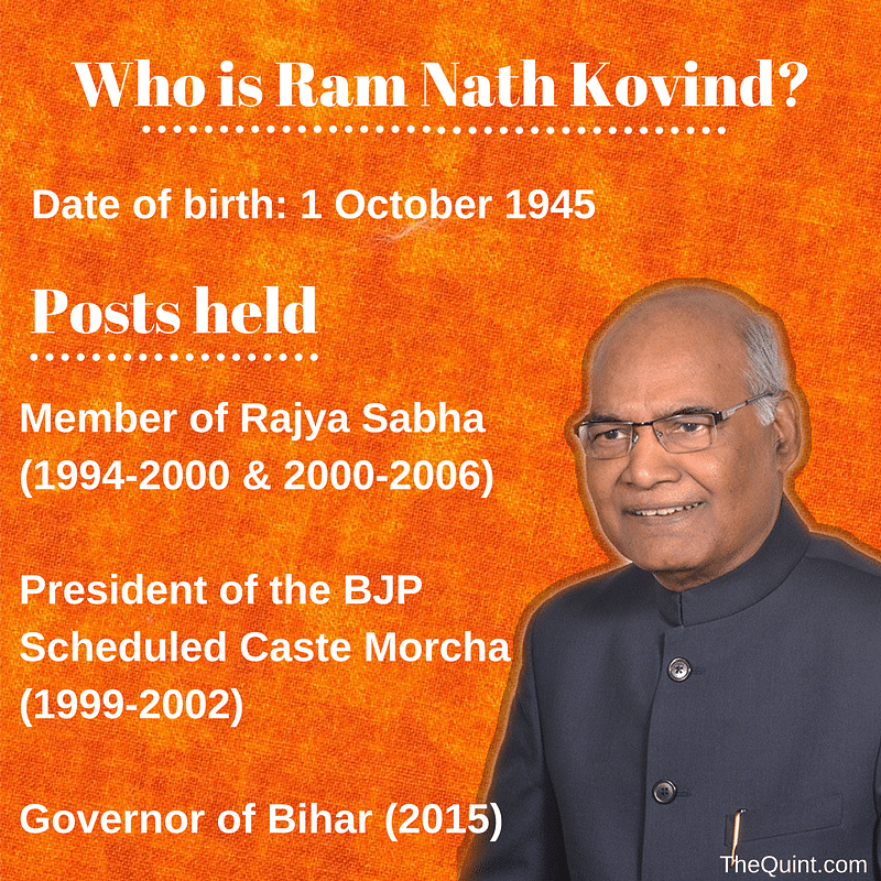 Who is Ram Nath Kovind? Data compiled from Factly.