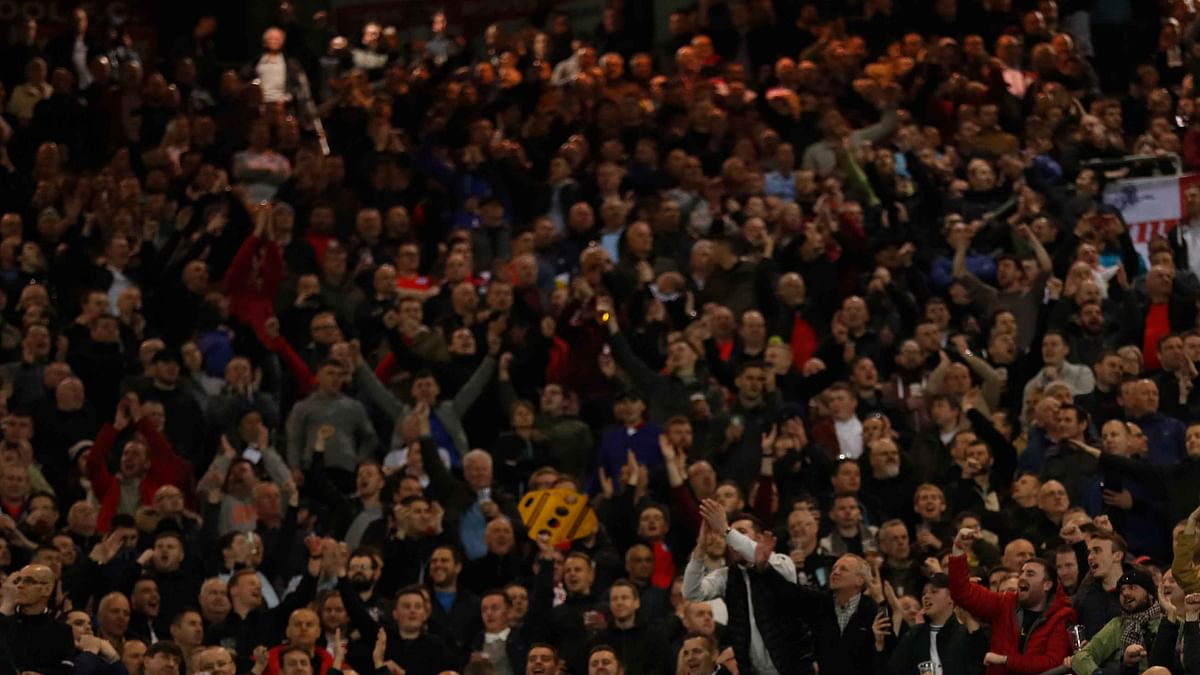 File photo of the supporters during the friendly match between England and Germany in March. (Photo: Reuters)