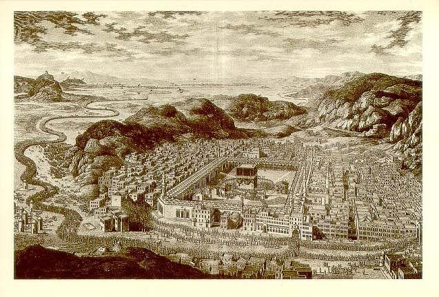 "Mecca, 1850 (Photo Courtesy: <a href=""https://upload.wikimedia.org/wikipedia/commons/9/97/Mecca-1850.jpg"">Wikimedia Commons</a>)"