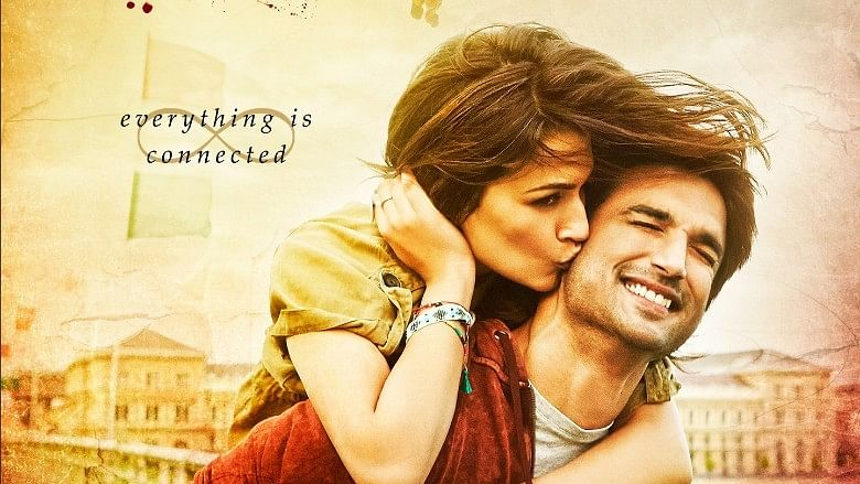 Sushant Singh Rajput and Kriti Sanon in a poster of <i>Raabta</i>. (Photo courtesy: T-Series)
