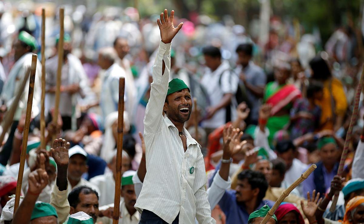 A farmers' protest in Mandsaur, Madhya Pradesh. (Photo: Reuters)