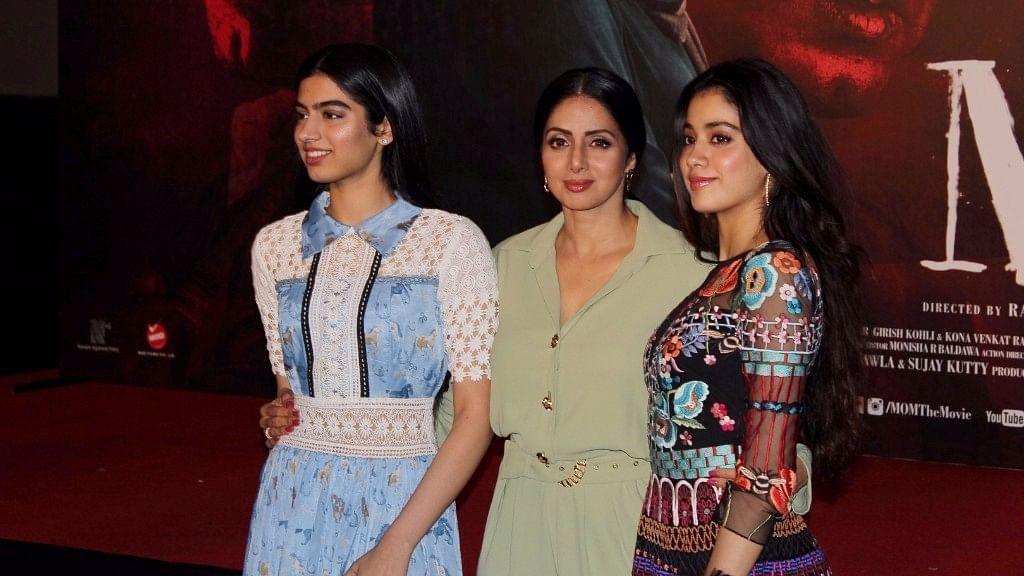 Sridevi with daughters Khushi and Jhanvi.