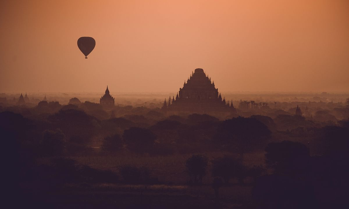 A misty evening in Old Bagan. (Photo courtesy: Aanchal Dhara Photography)