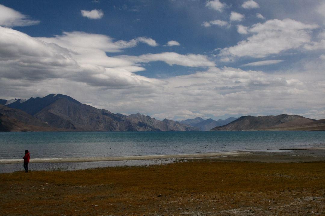 Pangong Tso lake is situated at 4,250 metres. (Photo courtesy: Subhashish Sarkar)