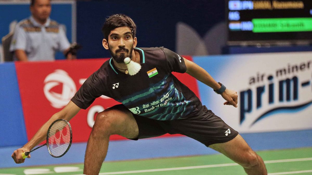 Kidambi Srikanth lost to a less-fancied Khosit Phetpradab of Thailand 21-11 16-21 12-21 in the second round of the men's singles.