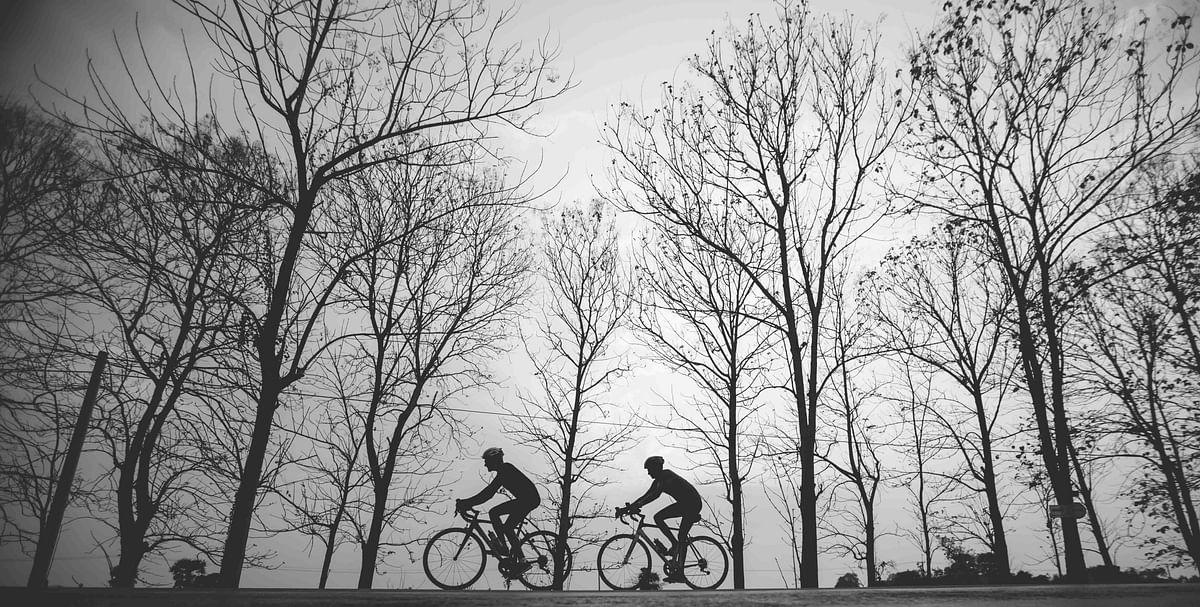 Vijay and Prashant brave it all as they ride from Mumbai to Bangkok. (Photo courtesy: Aanchal Dhara Photography)