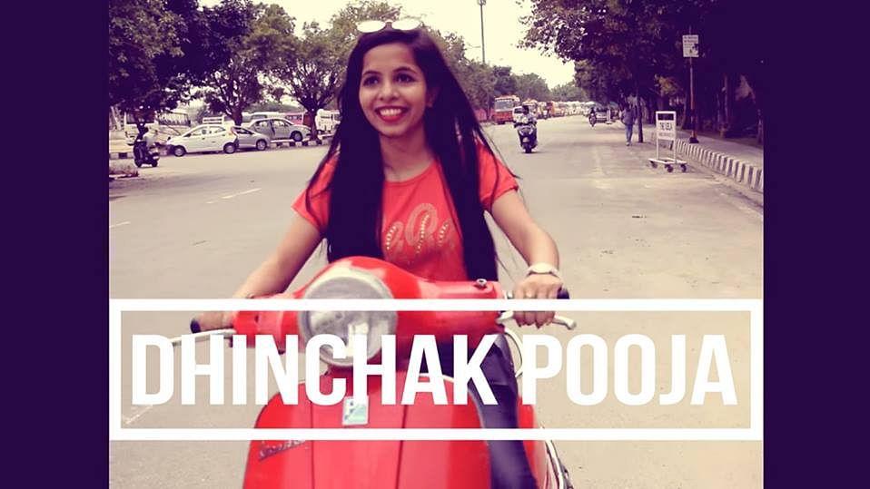 Dhinchak Pooja in her latest song 'Dilon ka Shooter'.