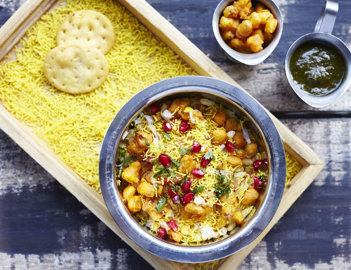 Recreating the famous Bhel with corn. (Photo Courtesy: Lavaash by Saby and SodaBottleOpenerWala)