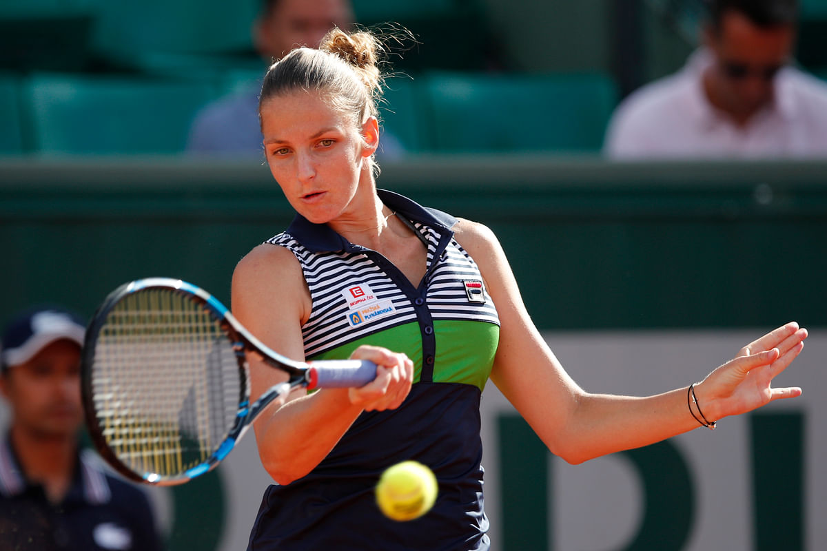 World number three Karolina Pliskova takes on Caroline Garcia. (Photo: AP)