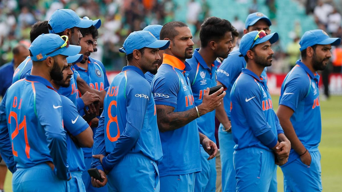 India players attend the award ceremony for the ICC Champions Trophy at The Oval in London. (Photo: AP)